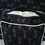 Ooh La La! Dog Print Cushion Black with White