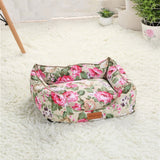 Charming and Classic Floral Pet Bed