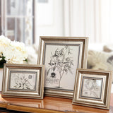 Classic Wood Frame with a Contemporary Twist   4 Sizes
