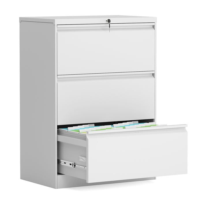 3-Drawer Filing Cabinet (Black/White)