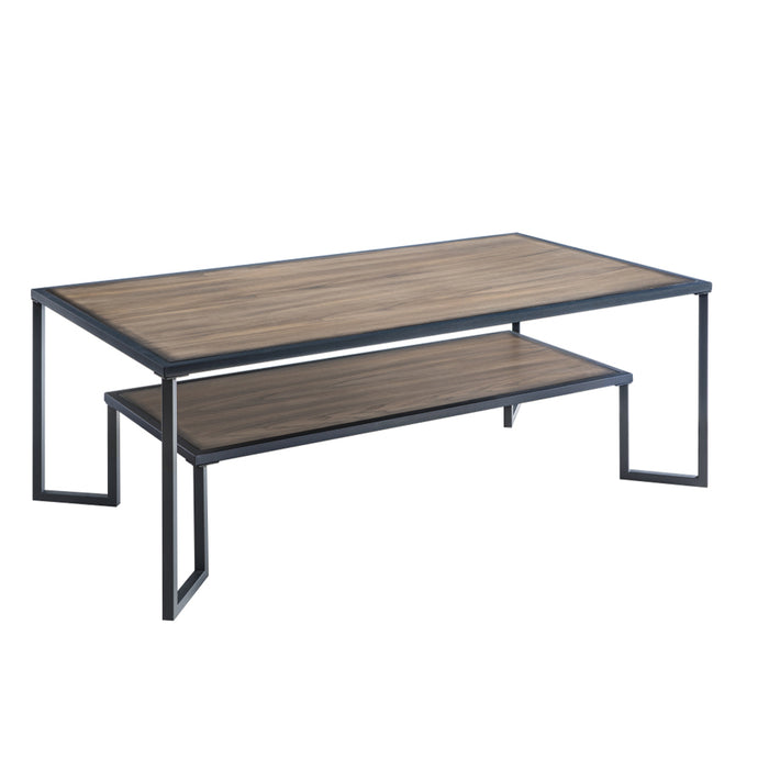 Coffee Table - Black+Brown (S/L)