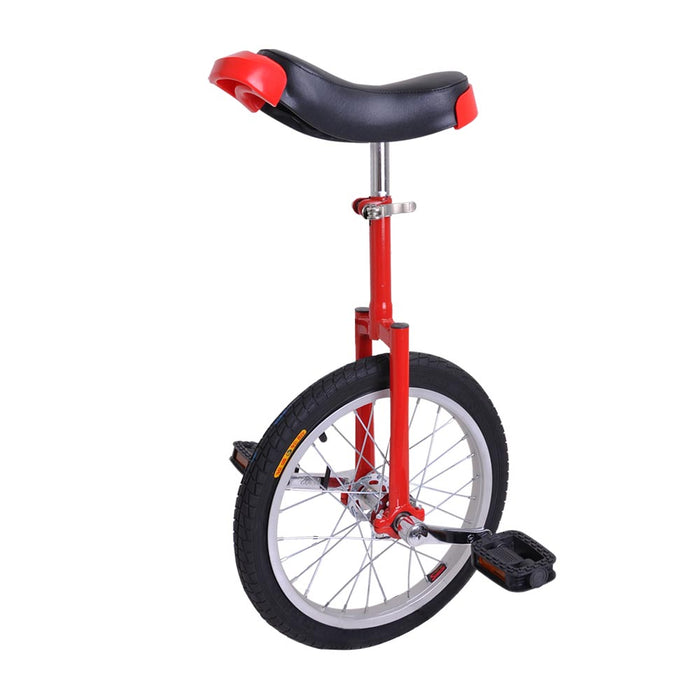 Unicycle With Thickened Aluminum Alloy Ring (Black/Red)