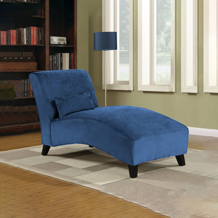 Linen Fabric Recliner Lounge Chair (Beige/Blue)