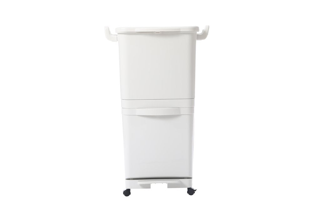Dual-Layer Trash and Recycling Bin (10 Gal/12 Gal)