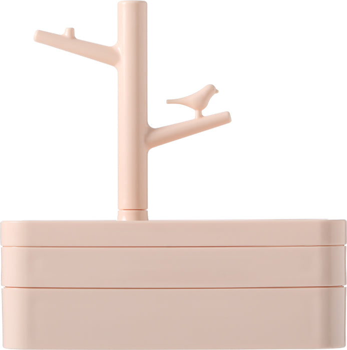 Multilayer Jewelry Box with Lid, Tree-Shaped Stand and Bird
