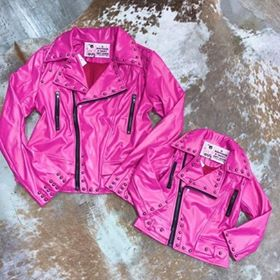 KIDS Hot pink Camaro Jacket