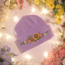 Load image into Gallery viewer, Purple Floral Beanie