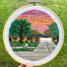 Load image into Gallery viewer, Custom Embroidered Landscape Hoop