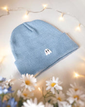 Load image into Gallery viewer, Blue Blushing Ghostie Beanie
