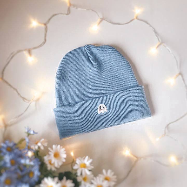 Blue Blushing Ghostie Beanie