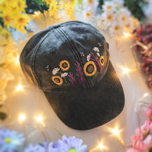 Load image into Gallery viewer, Faded Grey Floral Garden Cap