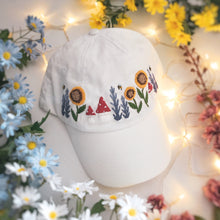 Load image into Gallery viewer, White Floral & Mushroom Cap