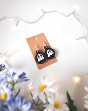 Load image into Gallery viewer, Black Blushing Ghostie Earrings