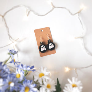 Black Blushing Ghostie Earrings