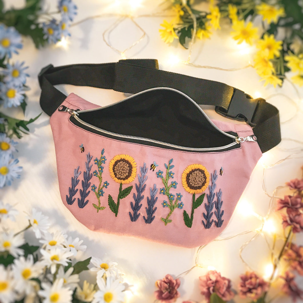 Floral Waist Bag - Dusty Pink