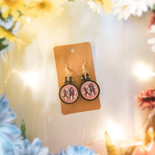 Load image into Gallery viewer, Pink Flower Garden Earrings