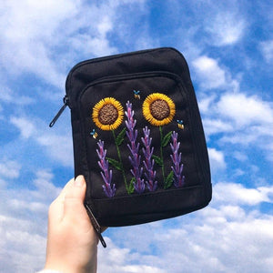Floral Garden Travel Wallet/Neck Bag