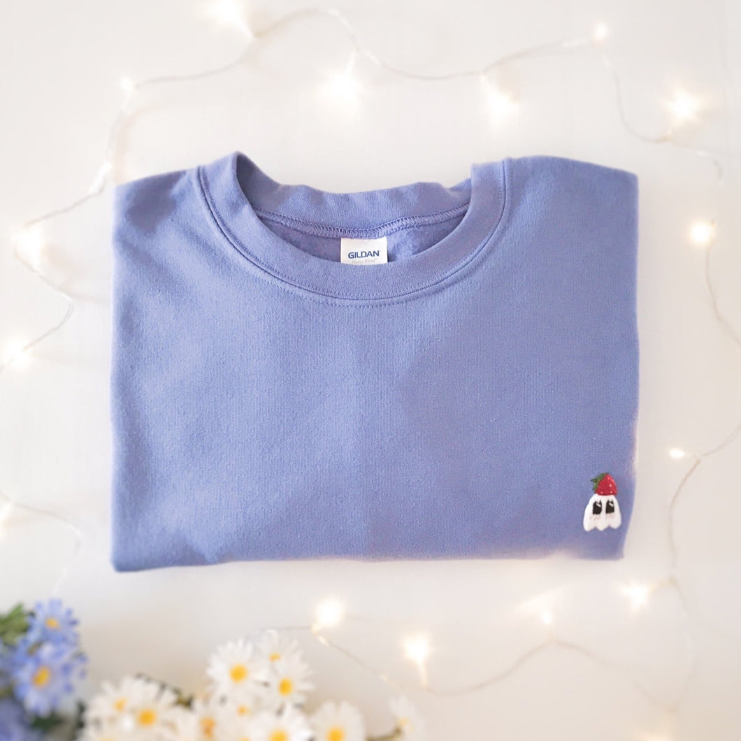 Strawberry Ghostie Crewneck