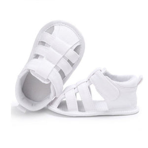 Kids Newborn Baby Boys Fashion Summer Soft Crib Shoes First Walker Anti Slip Sandals Shoe