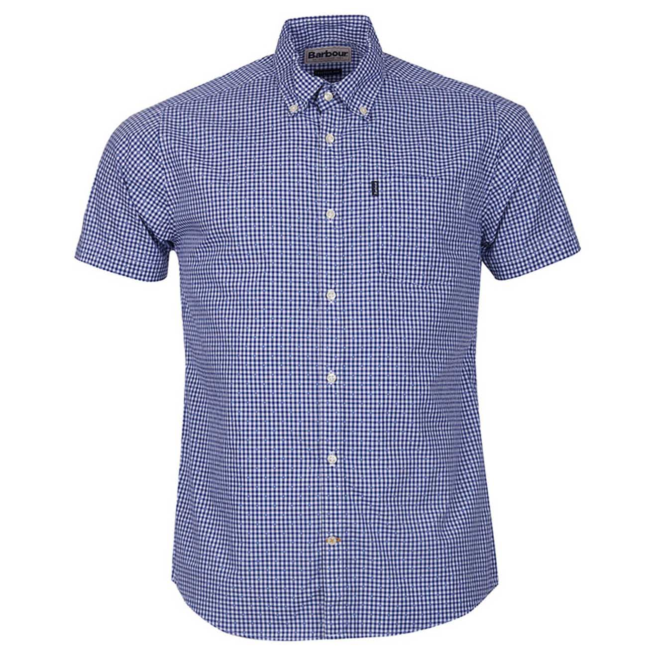 Barbour Hector Short Sleeve Shirt Navy