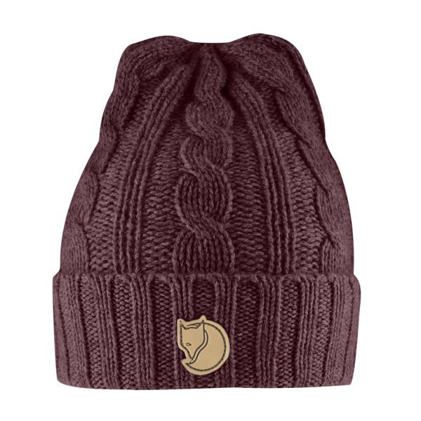 Fjallraven Braided Knit Hat Dark Garnet