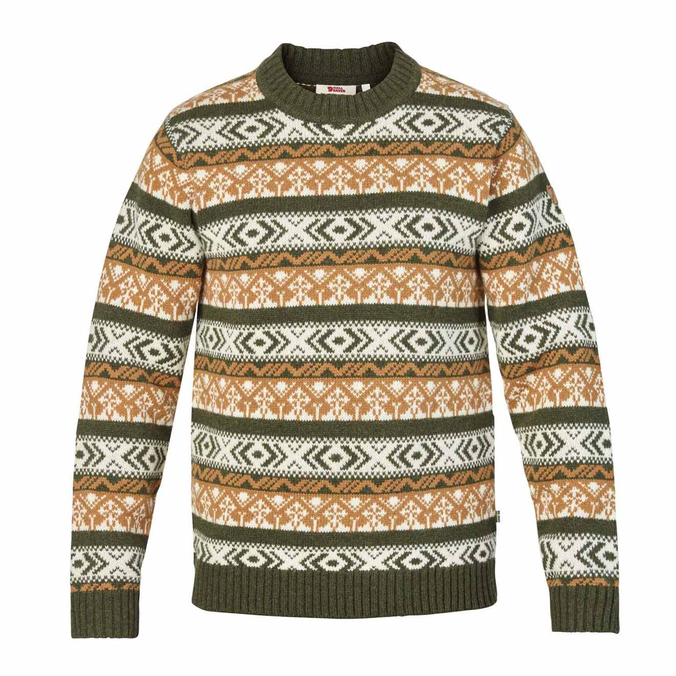 Fjallraven Ovik Folk Knit Sweater Deep Forest