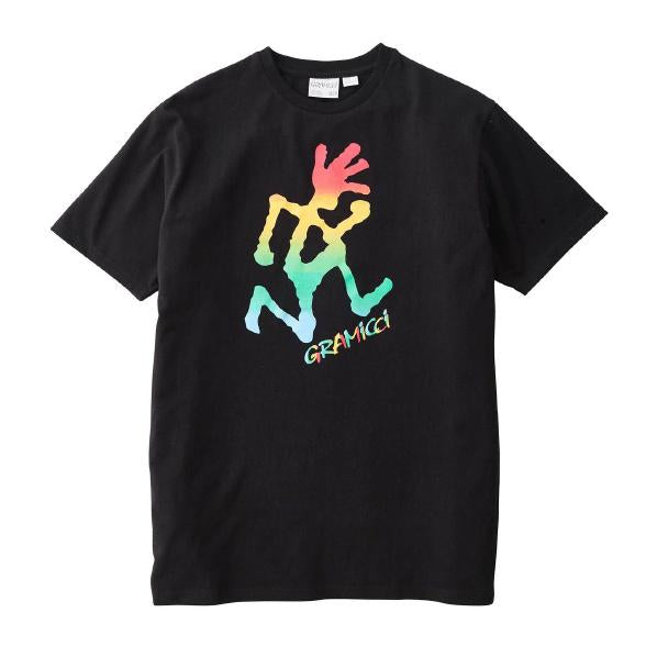 Gramicci Tie Dye Running Man T-Shirt Black