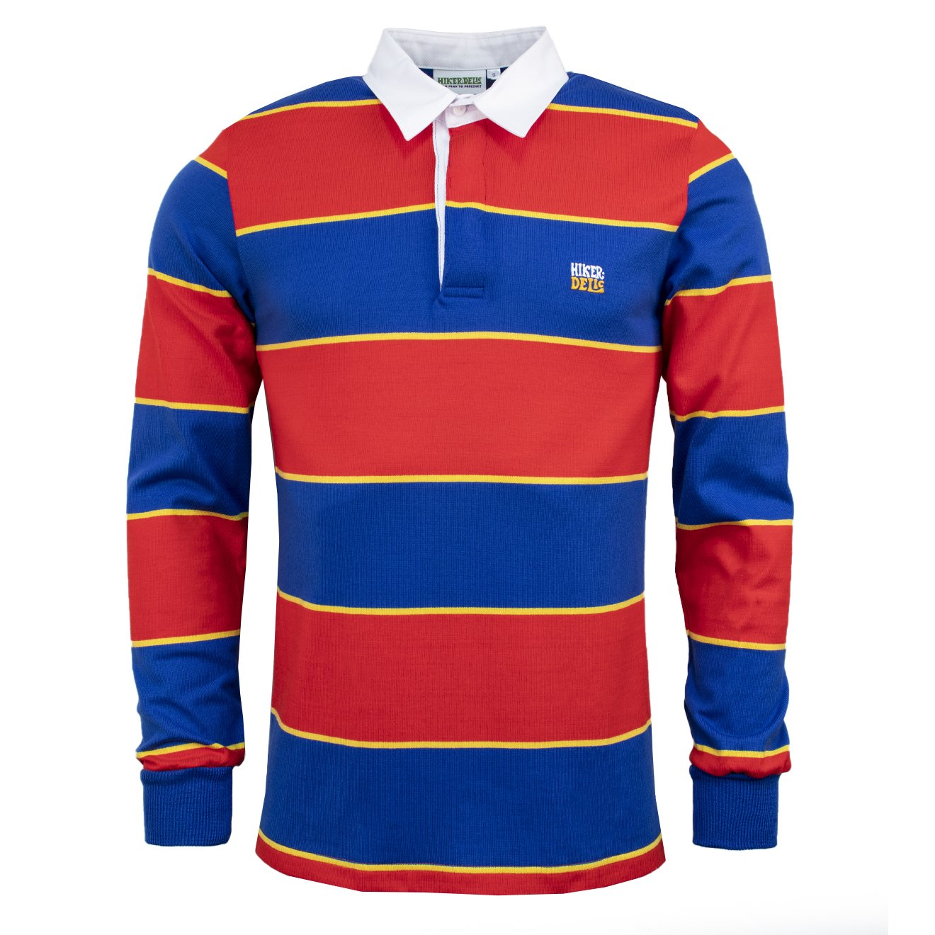 Hikerdelic Striped Rugby Shirt Red