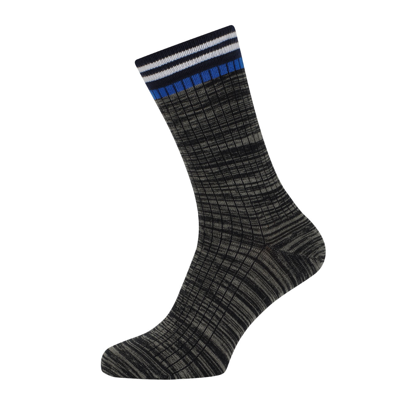 MP Crafted Garments Socks Macon Black Grey Blue