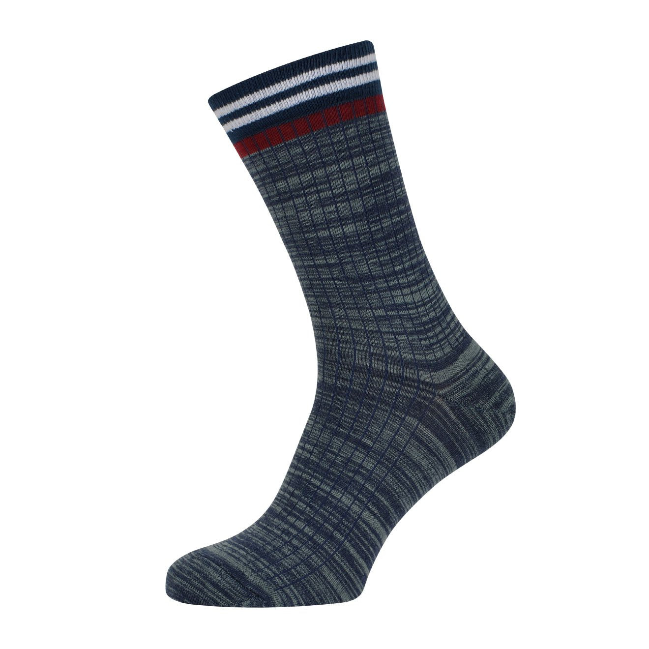 MP Crafted Garments Socks Macon Blue Red White