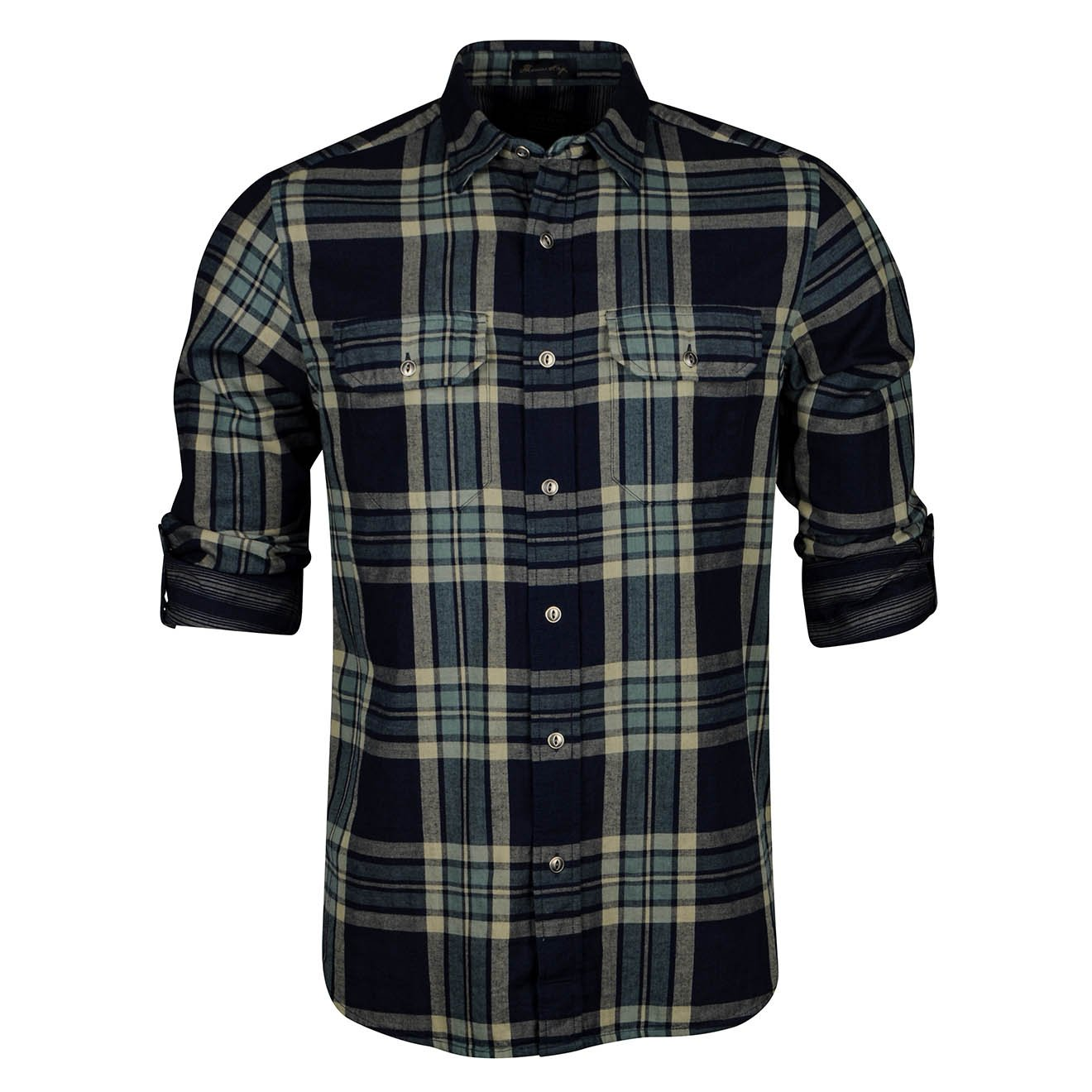 Pendleton Thomas Kay Double Face Fitted Shirt Indigo Plaid
