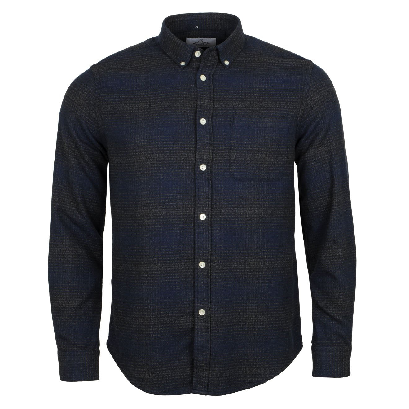 Portuguese Flannel Clerigo Shirt Navy