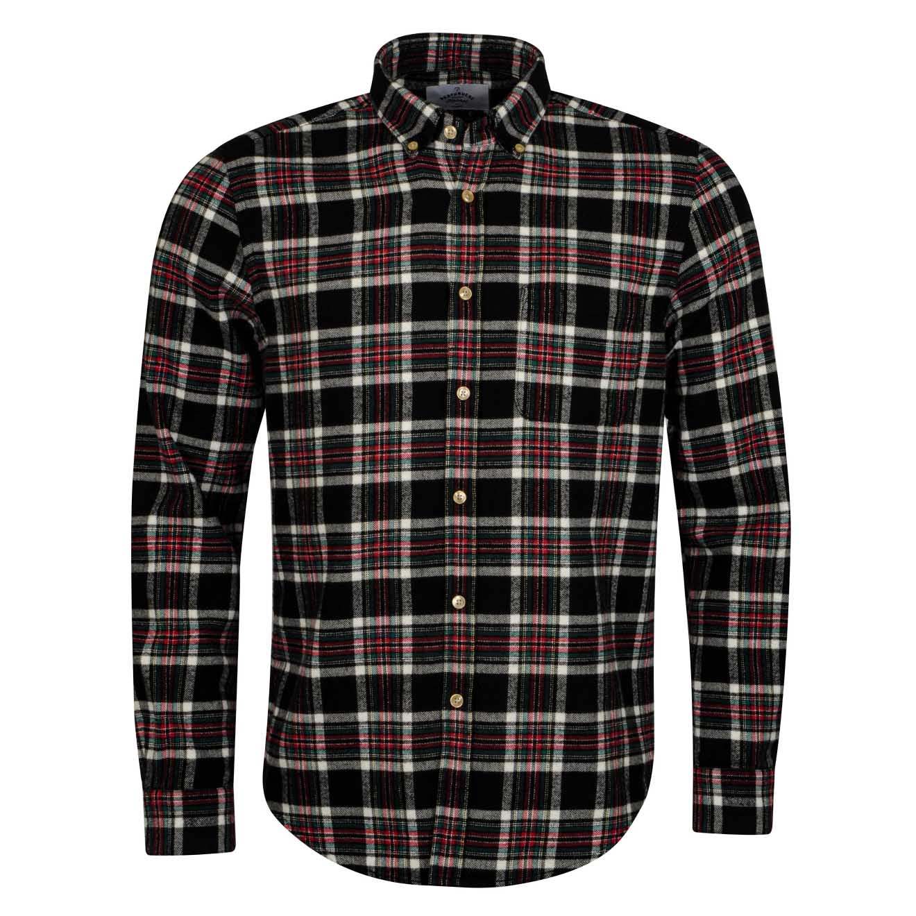 Portuguese Flannel Nazare Shirt Black Check