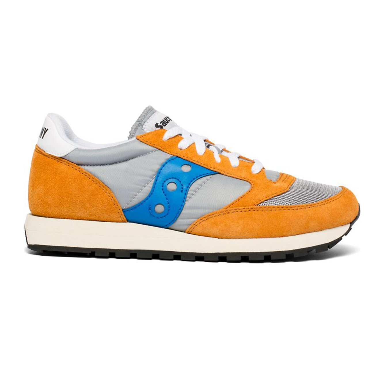 official photos d46c1 29a0f Saucony Jazz Original Vintage Trainers Orange / Grey / Blue - Yards Store