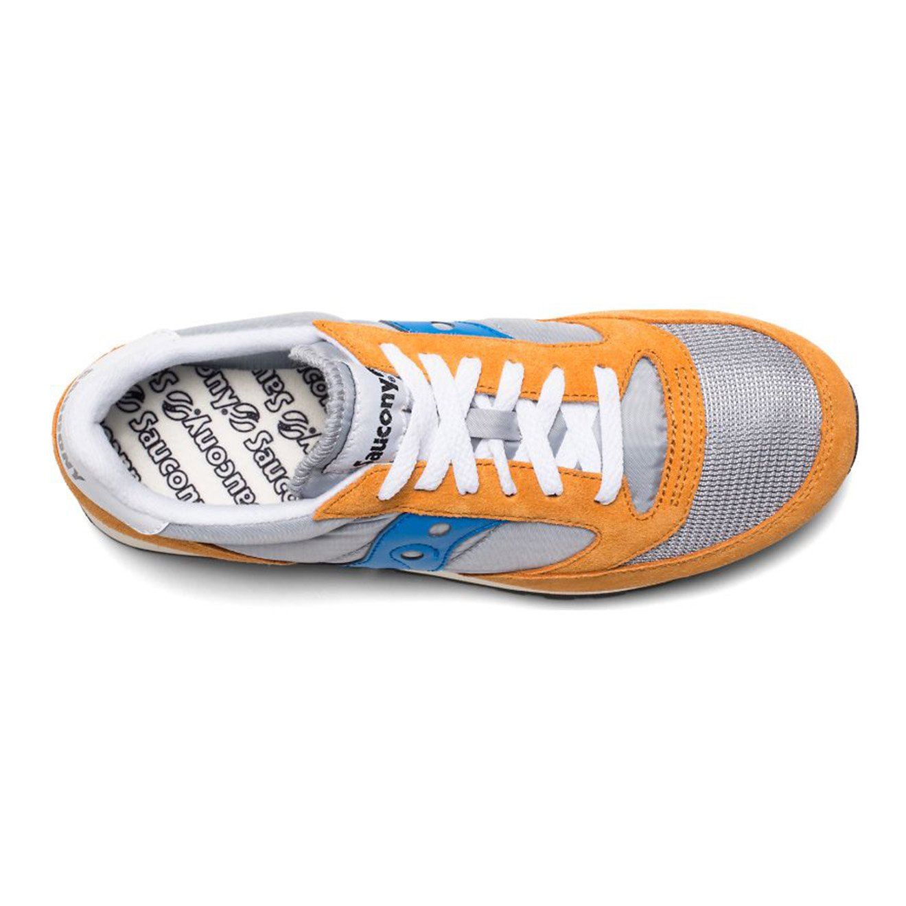 official photos 220cd ec42e Saucony Jazz Original Vintage Trainers Orange / Grey / Blue - Yards Store