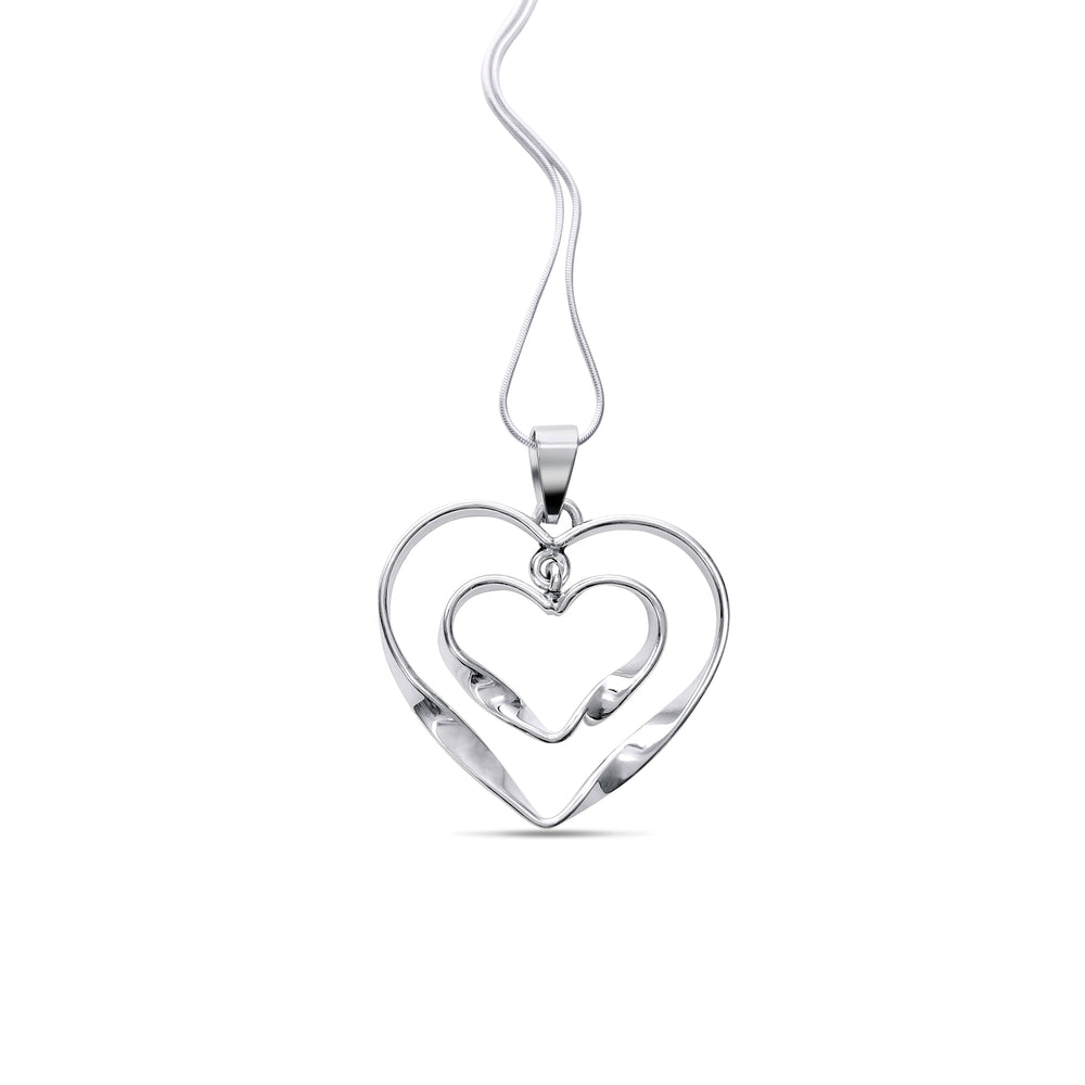 Silver Twisted Heart Pendant