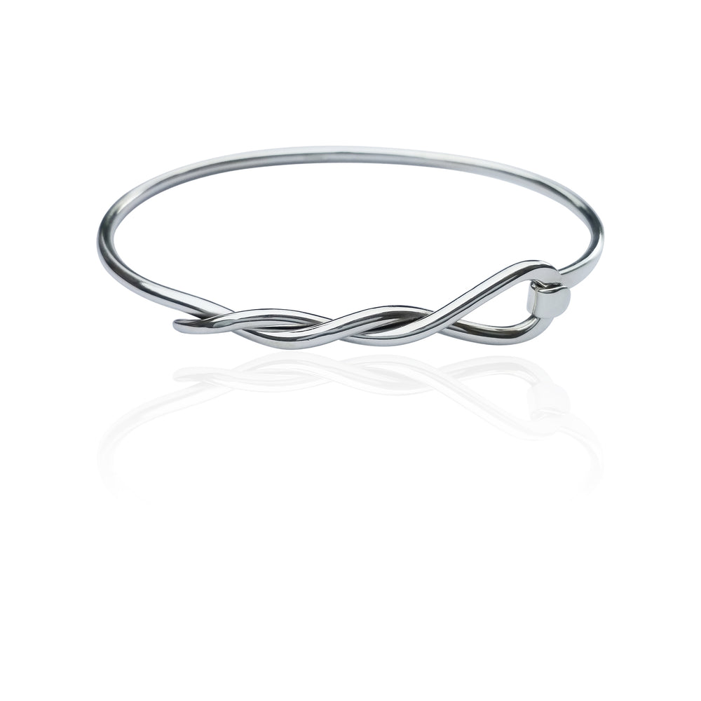 Silver Cable Wrapped Bangle