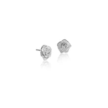 Load image into Gallery viewer, Silver Rose Studs