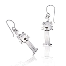Load image into Gallery viewer, Silver Puppy Dog Earrings