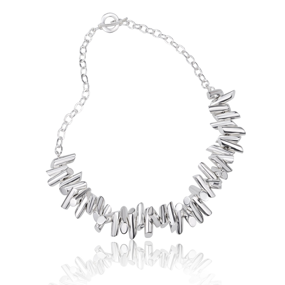 Silver Multi Tube Necklace