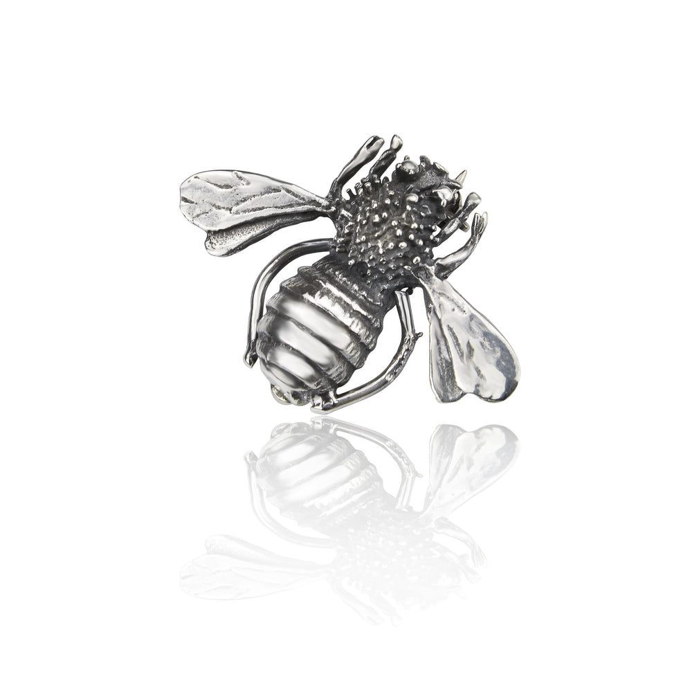 Silver Bumble Bee Brooch