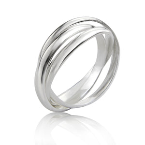 Silver Triple Band Russian Ring