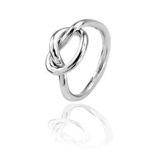 Load image into Gallery viewer, Silver Knot Ring
