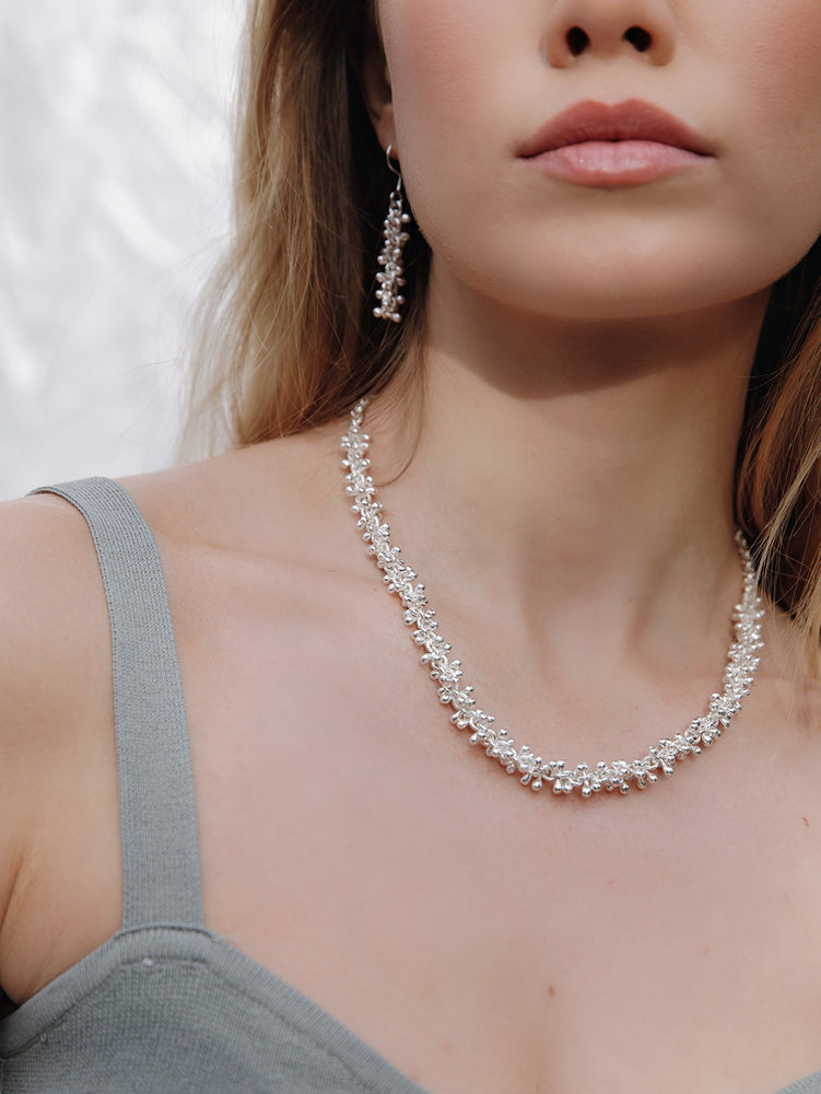 Load image into Gallery viewer, Silver Bobble Necklace