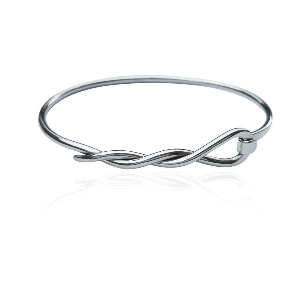 Load image into Gallery viewer, Silver Cable Wrapped Bangle