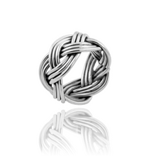 Load image into Gallery viewer, Silver Plaited Ring
