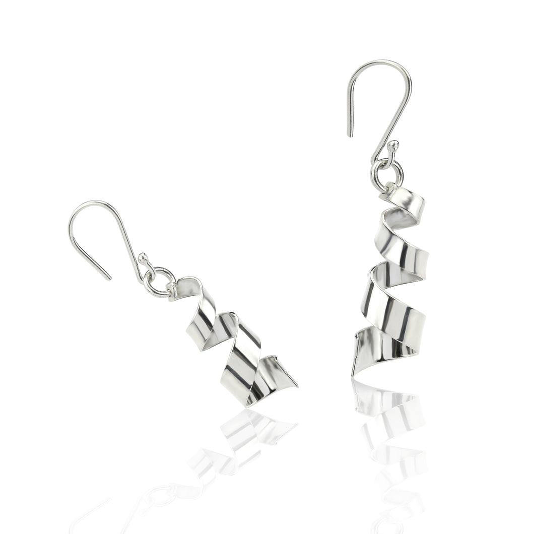 Silver Helter Skeltor Drop Earrings