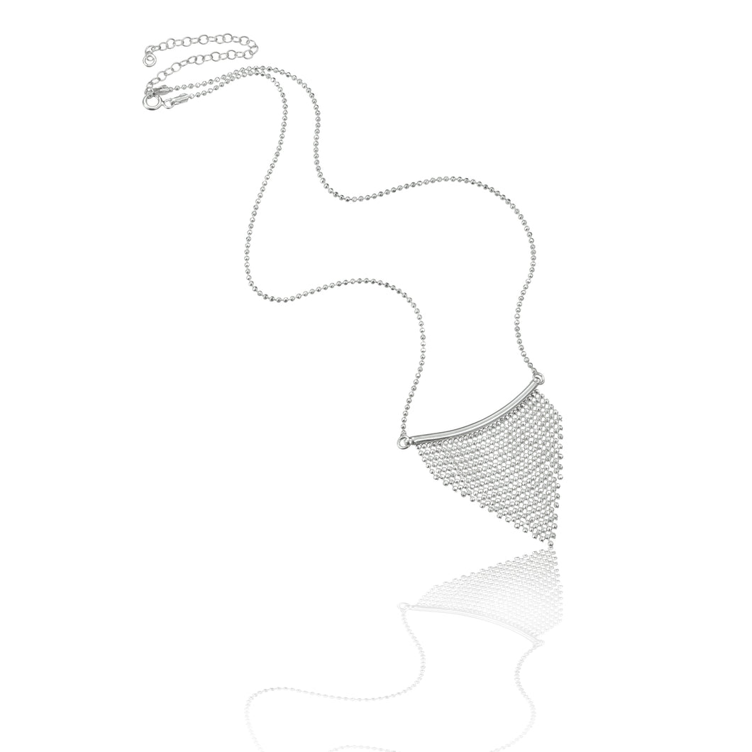 Silver Cascading Faceted Necklace