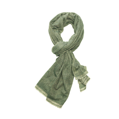 Tørklæde Saltuna Medium Grey/Forest Green