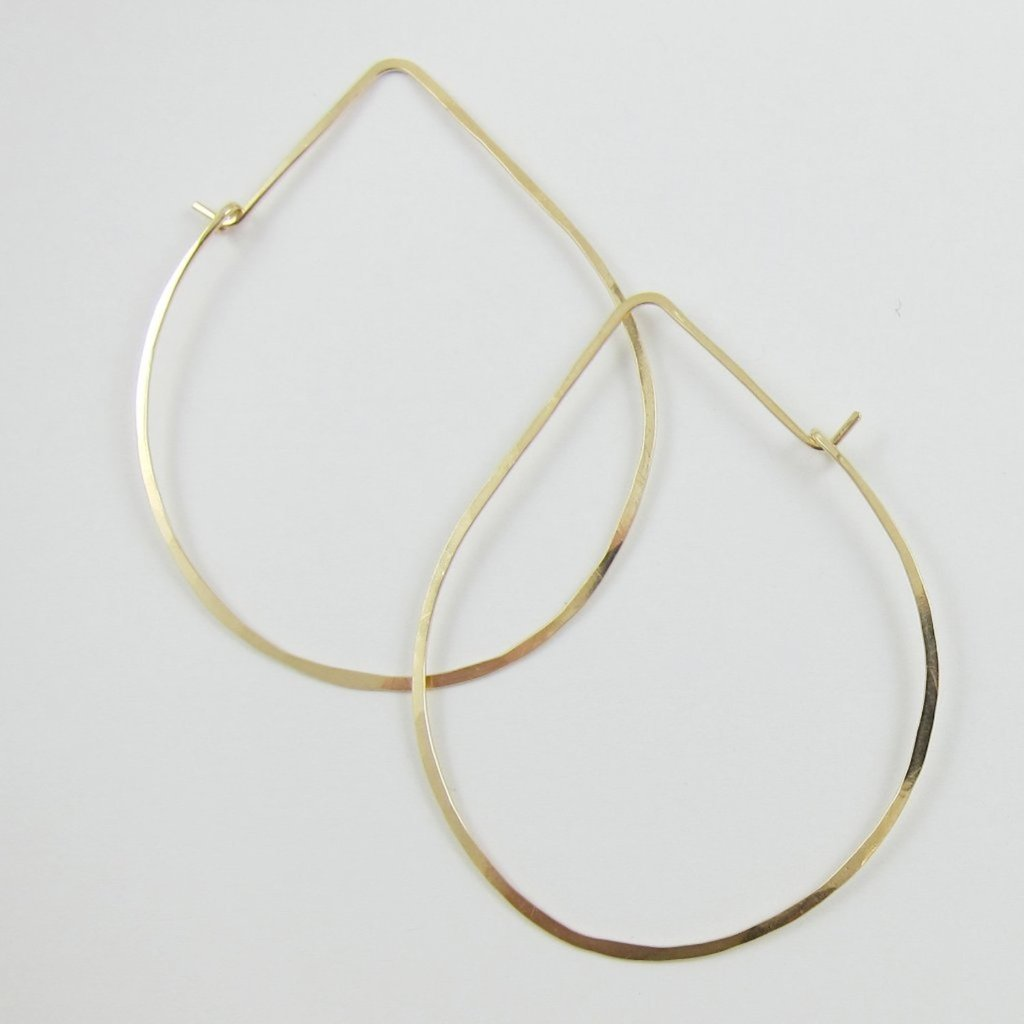 14kg Hand Forged Avocado Hoop Earrings